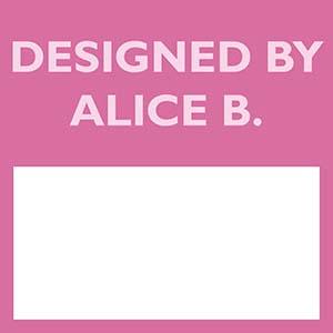 designed by alice b
